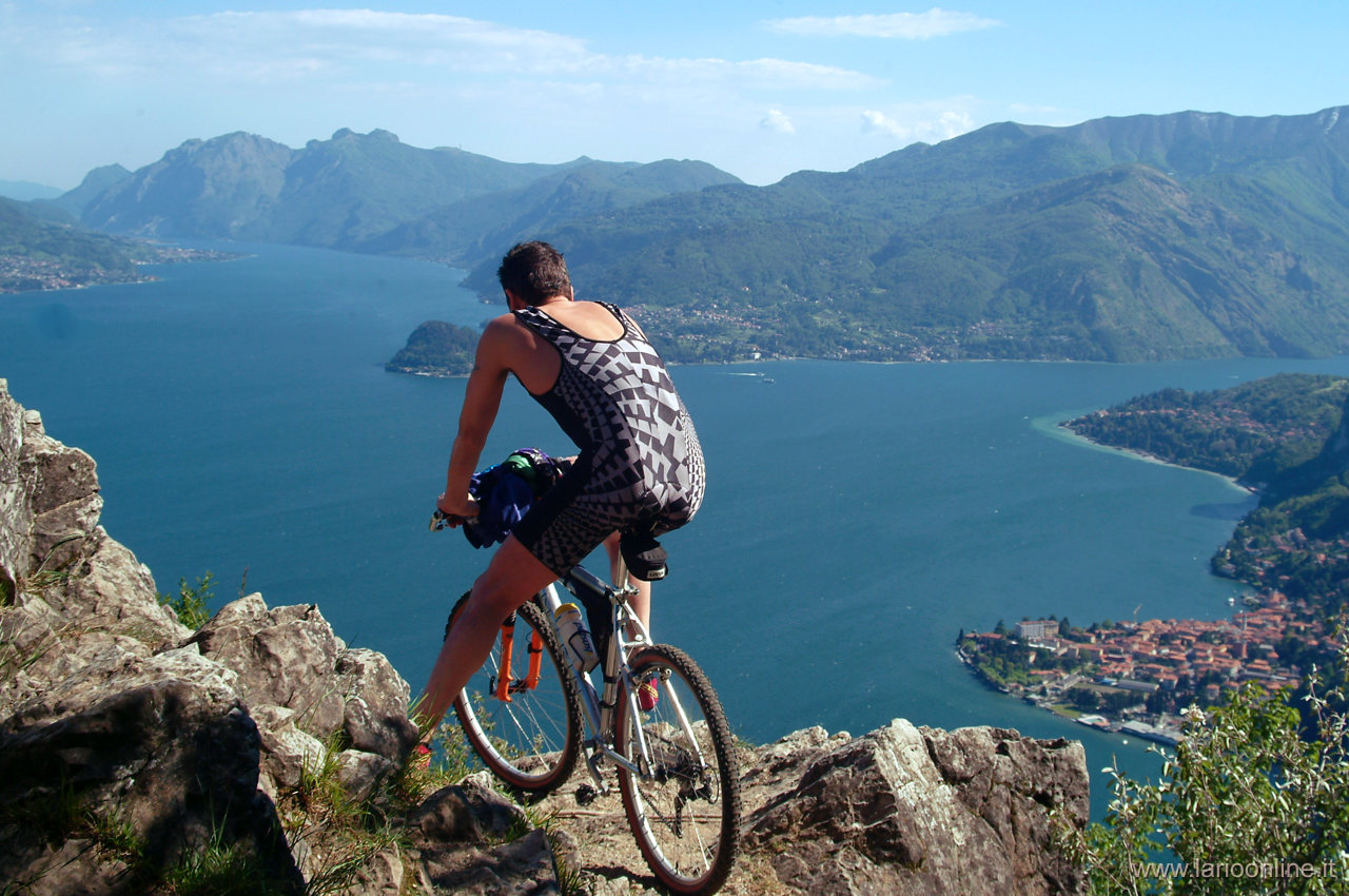 mountainbike lago di como